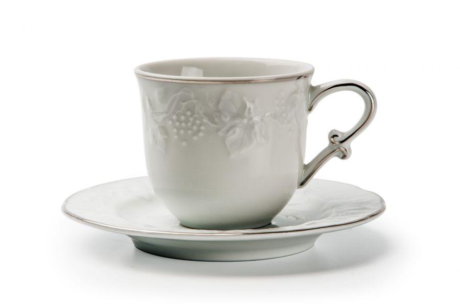 Кофейный набор на 1 персону Filet Platine (Vendange), 100 мл, 2 пр.