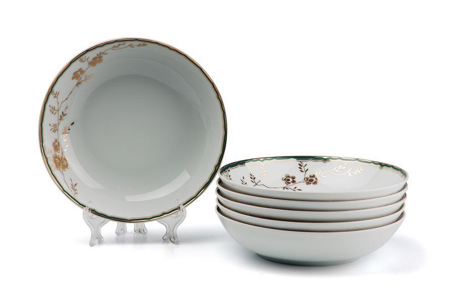 Набор глубоких тарелок 23 см, 6 шт, Belle epoque (Zen)