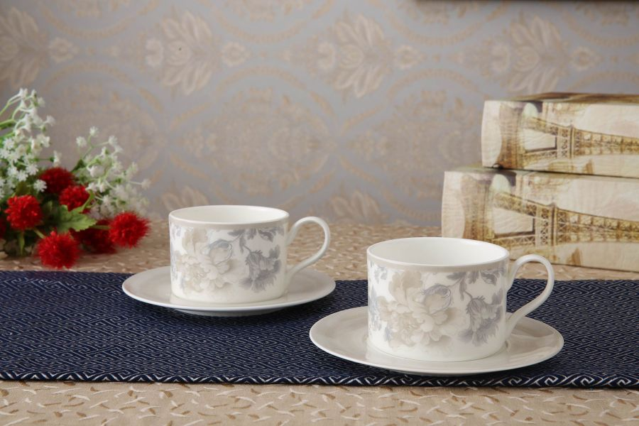 "Чайный набор на 2 персоны ""Жардан Беж"", 4 пр."