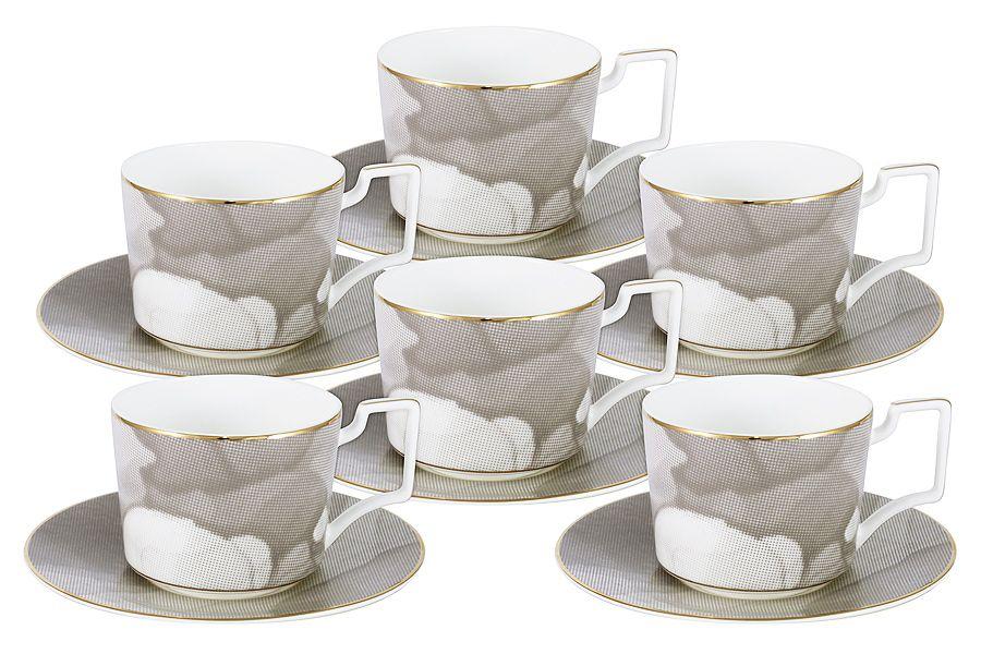 """Чайный набор на 6 персон """"Лунная соната"""", 0.25 л, 12 пр."""