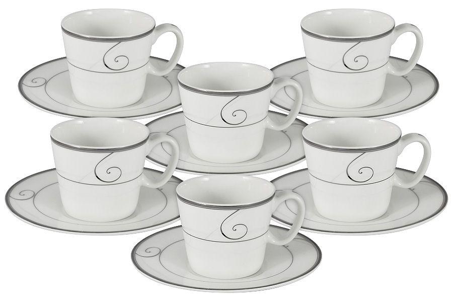 "Чайный набор на 6 персон ""Волна"", 12 пр., 0.09 л"